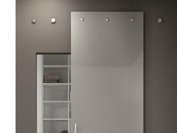 Sistema scorrevole per porte in vetro e legno indipendent - Ferramenta porta scorrevole ...