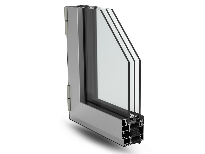 With concealed fittings window PLANET 72 HI - ALsistem
