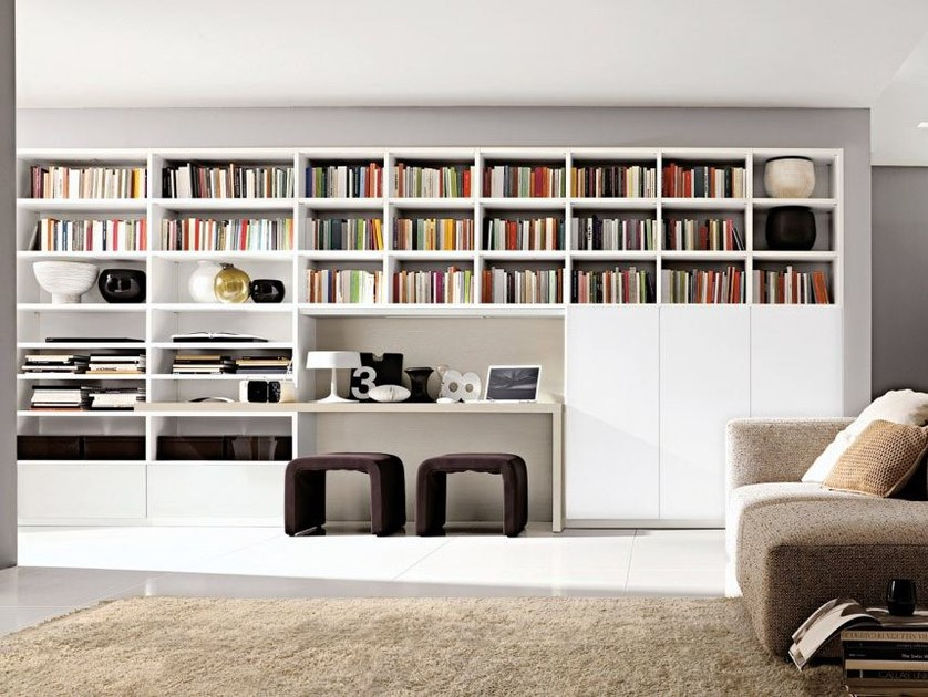 Sectional lacquered modular bookcase Z70 by Zalf