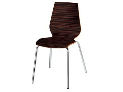Stackable wooden chair Nuvola 101 - Metalmobil