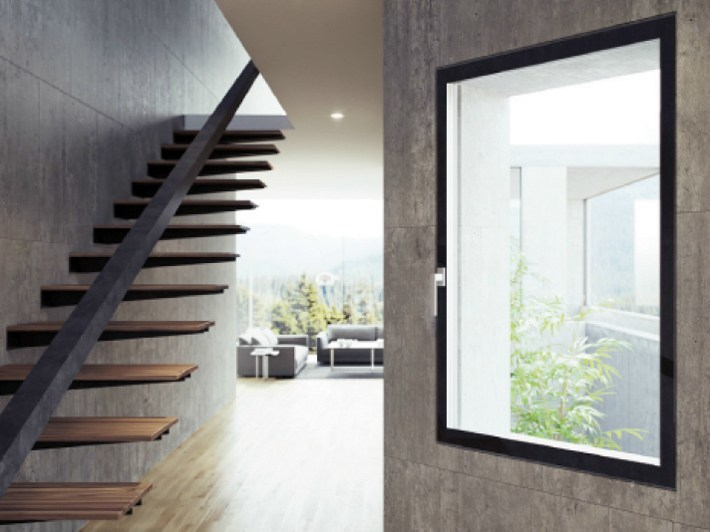 Fibex casement window Serie 500 H Total Glass - Agostinigroup