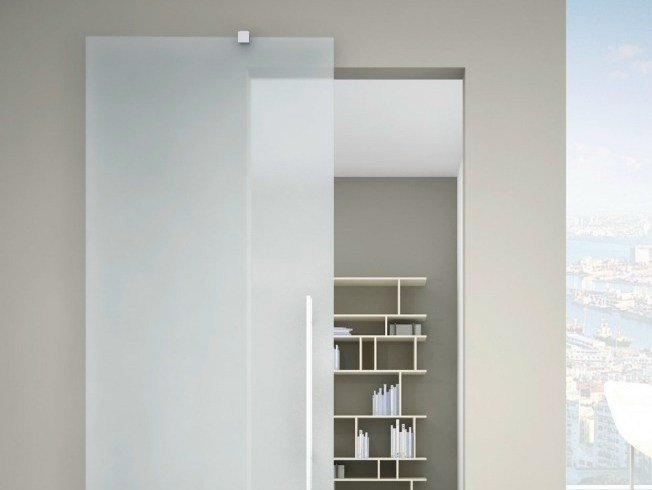 Metal sliding door track Rolling Naked R-1200 by Metalglas Bonomi