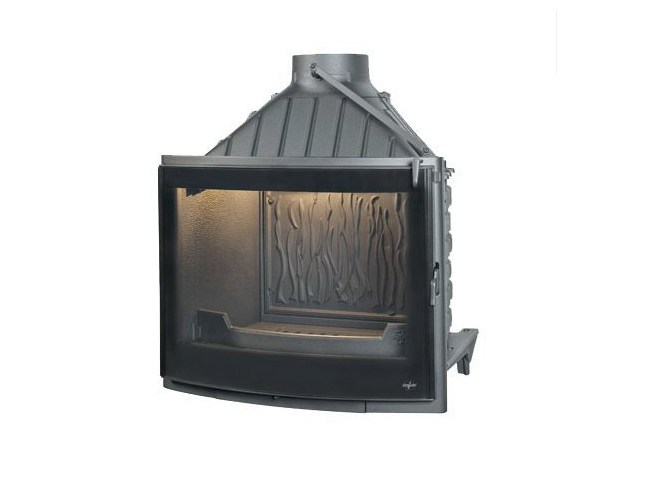 Cast iron Fireplace insert with Panoramic Glass PANO 7 EVO PLUS - CHEMINEES SEGUIN DUTERIEZ