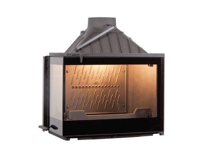Wood-burning cast iron Fireplace insert with Panoramic Glass EUROPA 7 EVO VL - CHEMINEES SEGUIN DUTERIEZ
