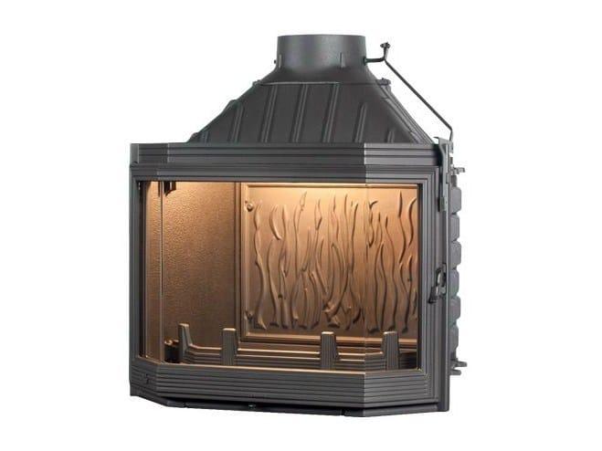 Cast iron Fireplace insert with Panoramic Glass HEXA 7 - CHEMINEES SEGUIN DUTERIEZ