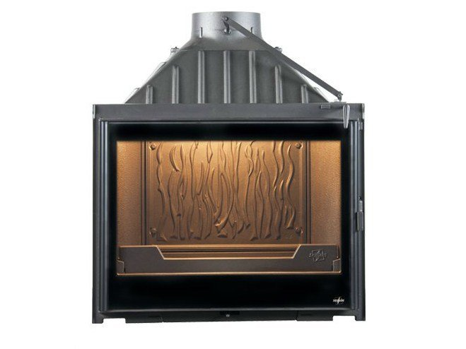 Cast iron Fireplace insert with Panoramic Glass EUROPA 7 EVOLUTION - CHEMINEES SEGUIN DUTERIEZ