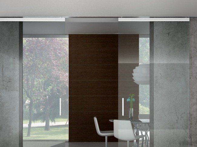 Metal sliding door track Semi-visibile V-1650 - Metalglas Bonomi