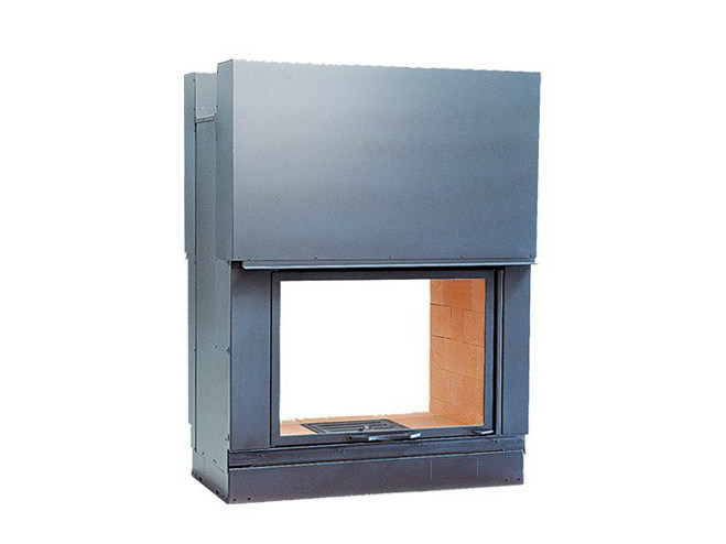 Steel Fireplace insert with Panoramic Glass DF 1000 - CHEMINEES SEGUIN DUTERIEZ