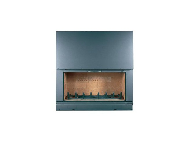 Steel Fireplace insert with Panoramic Glass F 1400 H by CHEMINEES SEGUIN