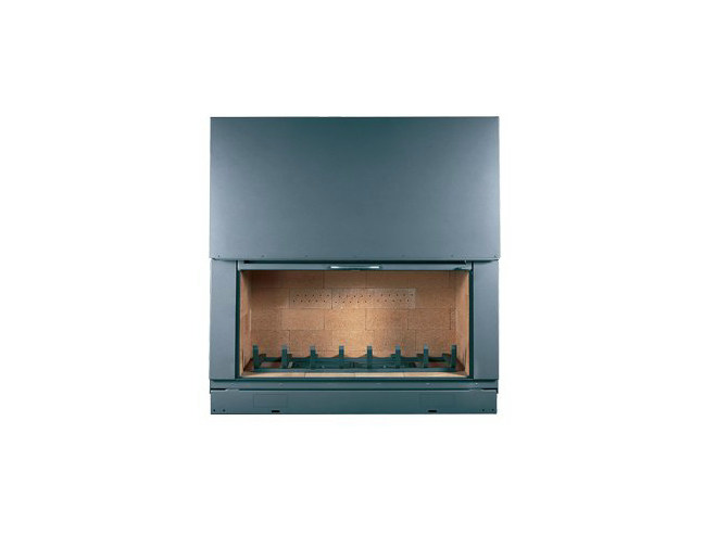 Steel Fireplace insert with Panoramic Glass F 1400 H - CHEMINEES SEGUIN DUTERIEZ