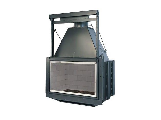 Steel Fireplace insert with Panoramic Glass HORIZON 100 CM - CHEMINEES SEGUIN DUTERIEZ