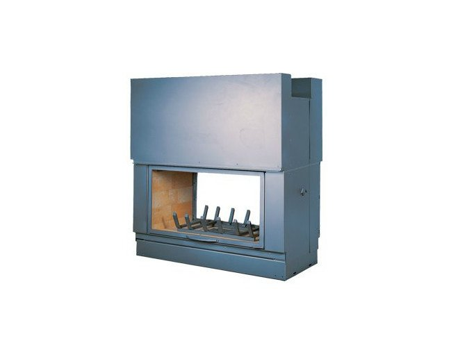 Steel Fireplace insert with Panoramic Glass DF 1200 H - CHEMINEES SEGUIN DUTERIEZ