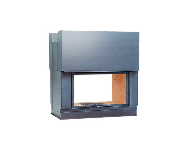 Steel Fireplace insert with Panoramic Glass DF 1000 H - CHEMINEES SEGUIN DUTERIEZ