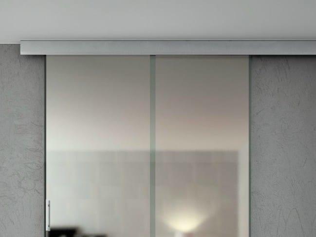 Metal sliding door track Telescopic Sincro V-2200 - Metalglas Bonomi