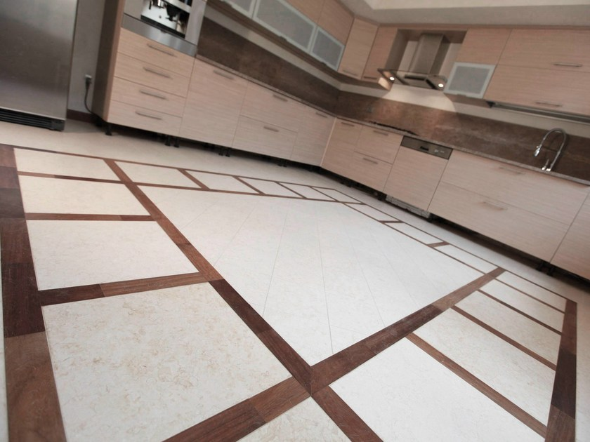 Natural stone and wood wall/floor tiles LINFA by RAMA 1956