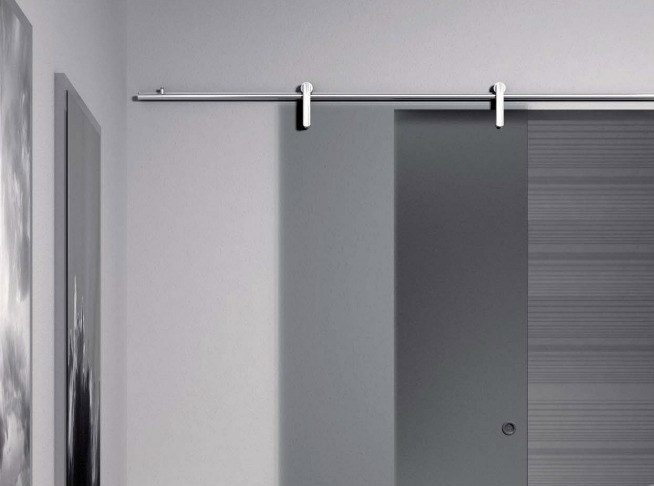 Metal sliding door track Minimal Simply V-6050 by Metalglas Bonomi