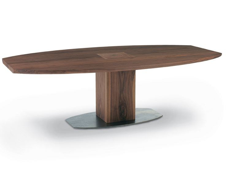 Oval solid wood table BOSS EXECUTIVE | Oval table by Riva 1920