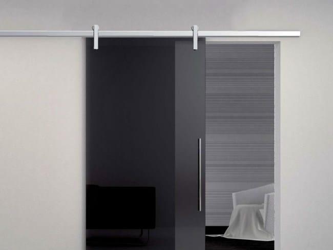 Metal sliding door track Minimal Quadro V-6300 - Metalglas Bonomi