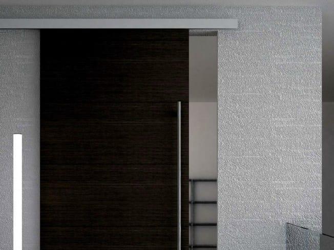 Metal sliding door track Evolution legno V-5140 - Metalglas Bonomi