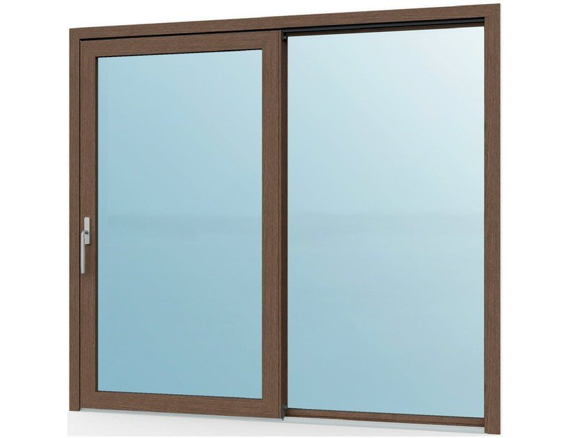 Aluminium and wood patio door Patio door with Fibex Inside technology by Agostinigroup