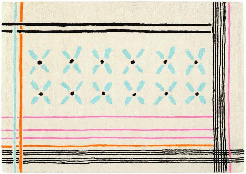 Patterned handmade cotton rug DÉSIRÉ - Toulemonde Bochart