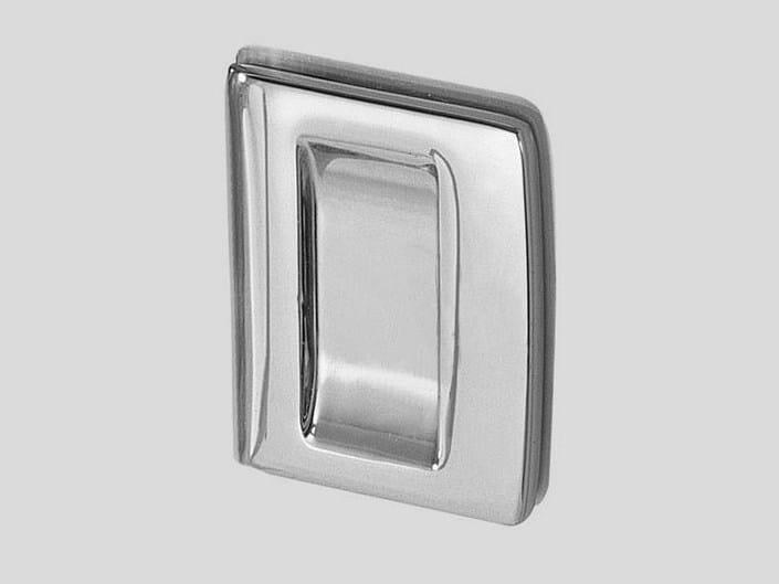 Metal glass door handle V-506 by Metalglas Bonomi