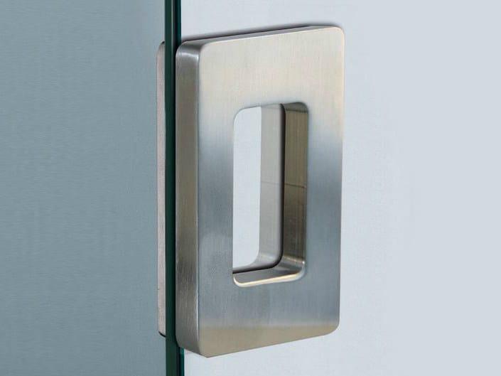 Metal glass door handle V-510 - Metalglas Bonomi