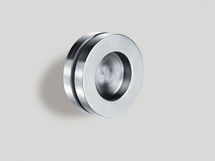 Metal glass door handle V-523 by Metalglas Bonomi
