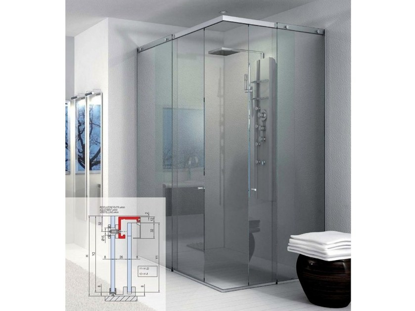 Showers box Compact BX-1000 | Shower cabin by Metalglas Bonomi