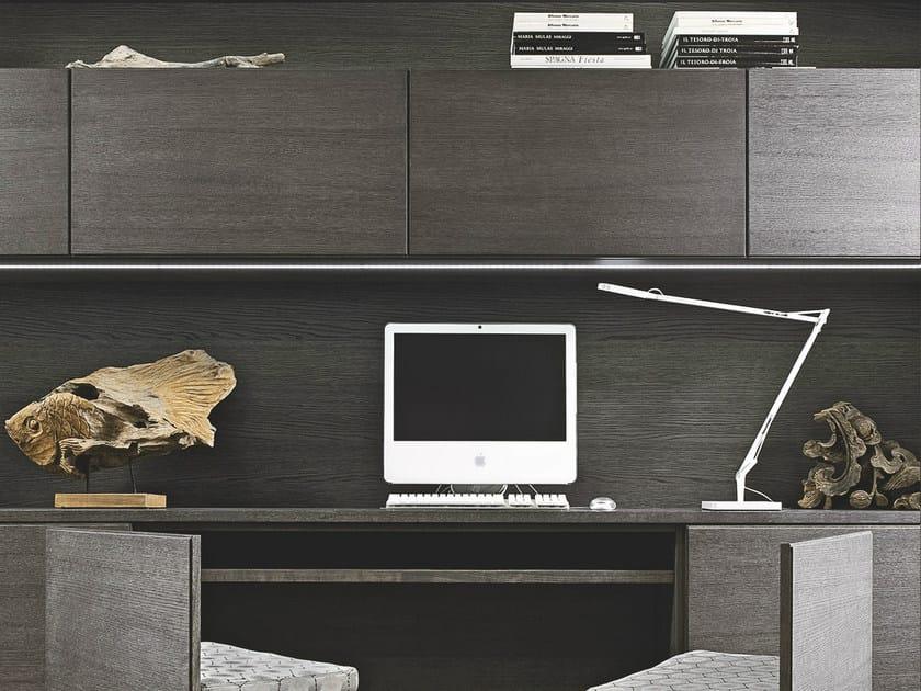 Super Parete attrezzata con scrivania integrata AETERNA | Parete  MM53