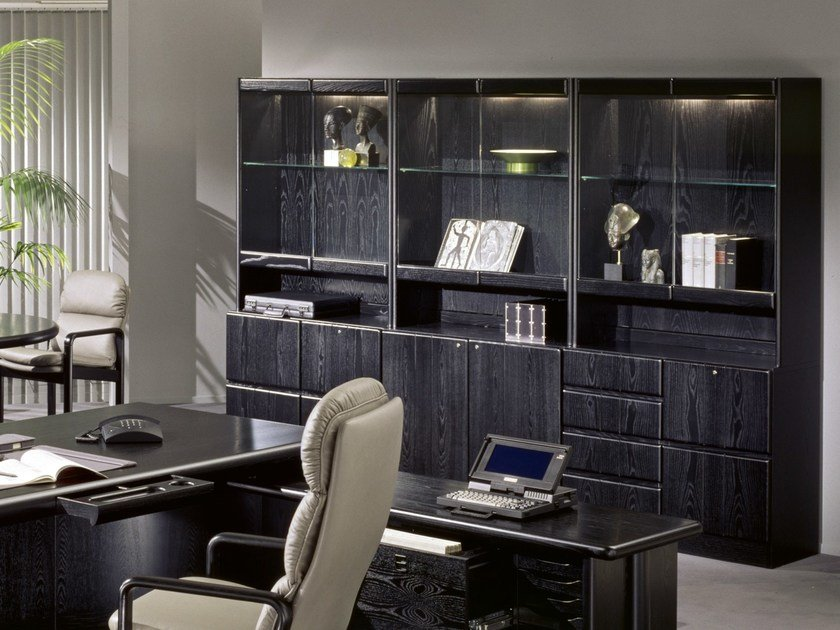 Wooden office storage unit / office shelving 8907 | Office shelving - Dyrlund