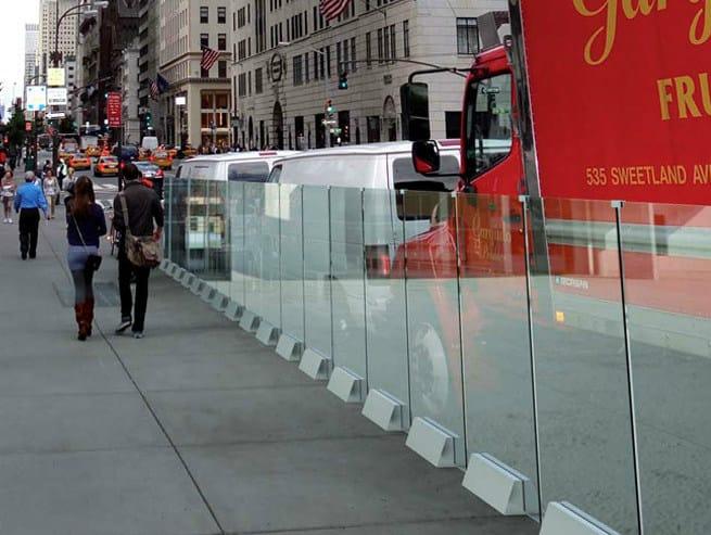 Modular glass Fence ROBUR B-2700 - Metalglas Bonomi