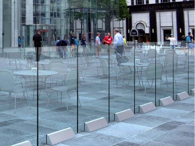 Modular glass Fence VELA B-2800 - Metalglas Bonomi