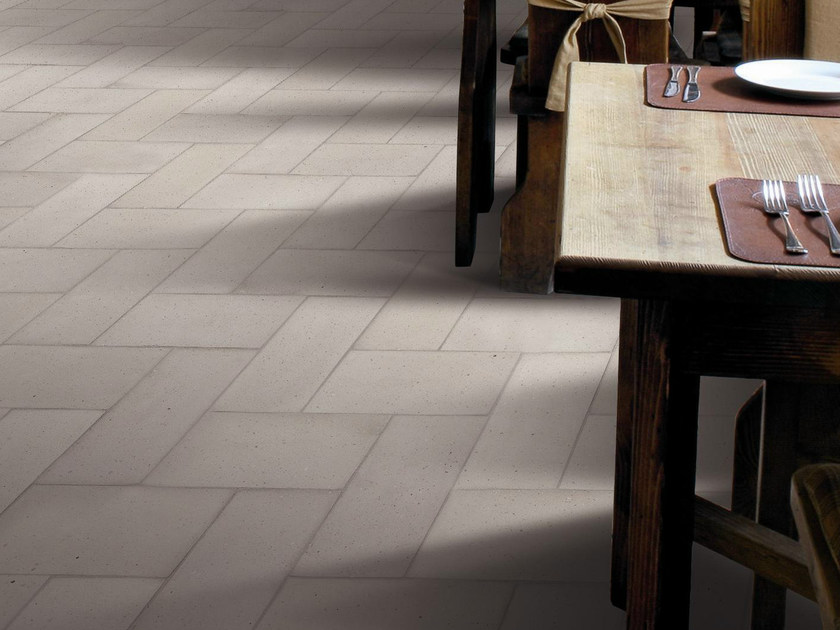 Quarry flooring Pockmarked terracotta - Dove Gray by Danilo Ramazzotti