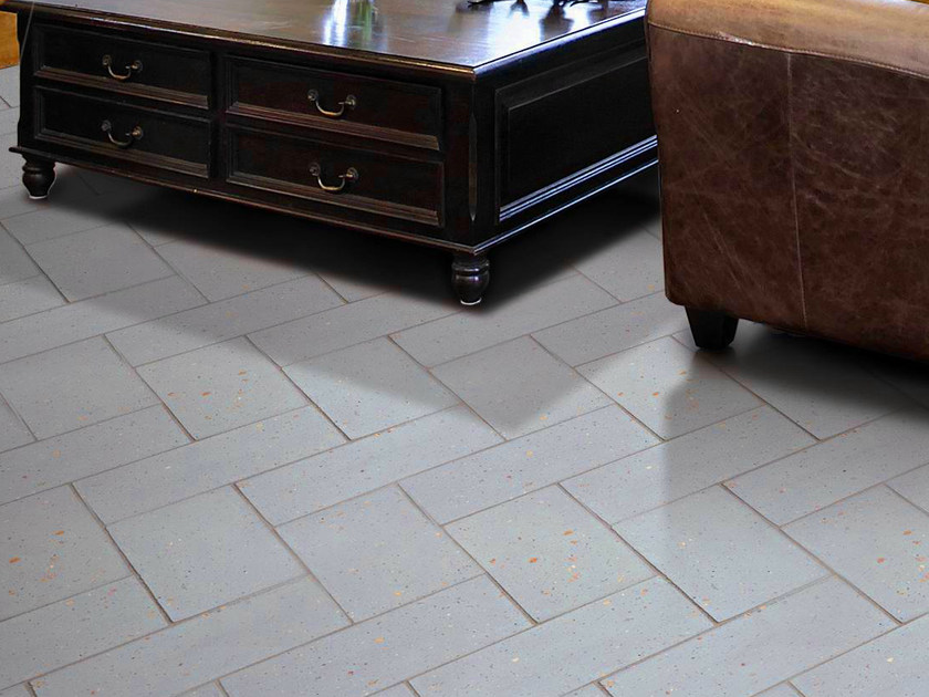 Quarry flooring Pockmarked terracotta - Lightblue by Danilo Ramazzotti
