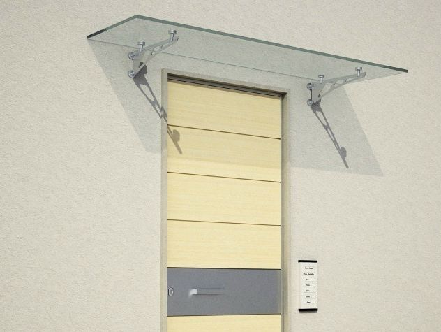 Glass door canopy TECNO by Metalglas Bonomi