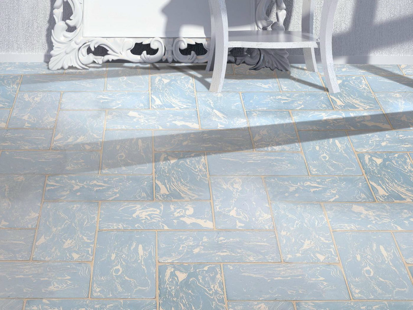 Quarry flooring Lightblue cotto variegated white - DANILO RAMAZZOTTI ITALIAN HOUSE FLOOR