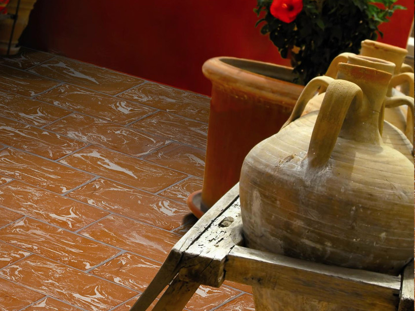 Quarry flooring Red cotto variegated white - DANILO RAMAZZOTTI ITALIAN HOUSE FLOOR