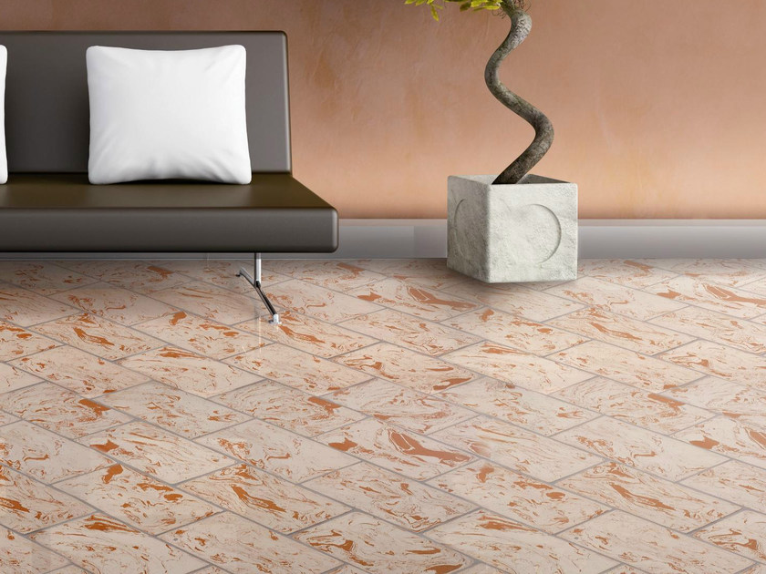 Quarry flooring White cotto variegated red - DANILO RAMAZZOTTI ITALIAN HOUSE FLOOR