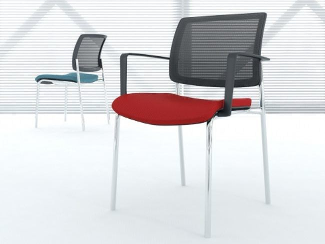 Ergonomic upholstered chair with armrests GAYA | Chair with armrests - MDD