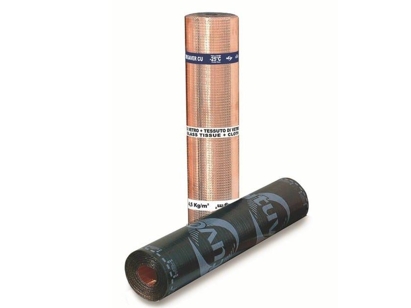 Prefabricated bituminous membrane MEGAVER CU - BITUVER ISOVER SAINT-GOBAIN