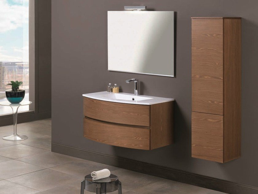 Single vanity unit with drawers UNICO 01 - Mobiltesino