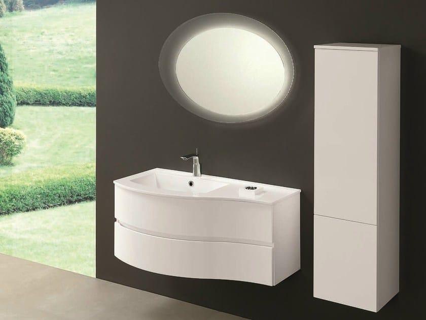 Single vanity unit with drawers UNICO 10 - Mobiltesino
