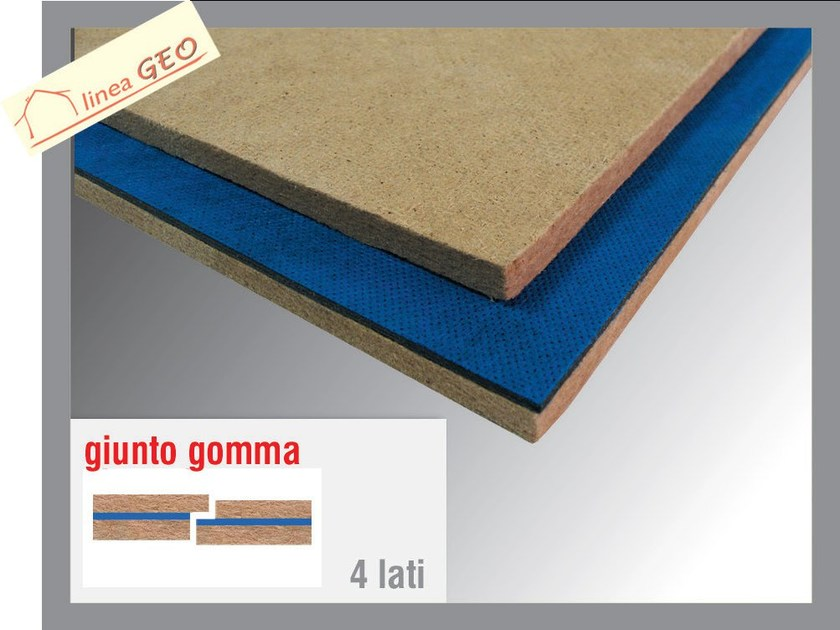 Wood fibre sound insulation panel GEOGUM L - Thermak by MATCO