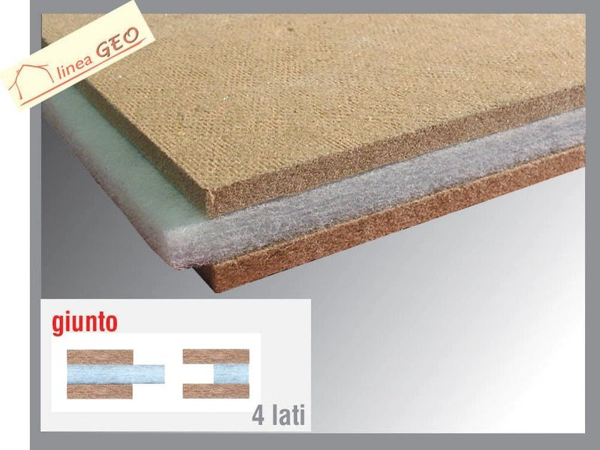 Wood fibre sound insulation panel POLIWOOD L by Thermak by MATCO