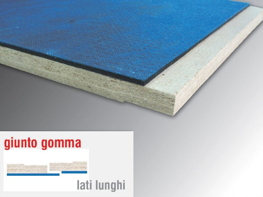 Sound insulation and sound absorbing panel in mineral fibre MASSACUSTIC GUM 8 - Thermak by MATCO