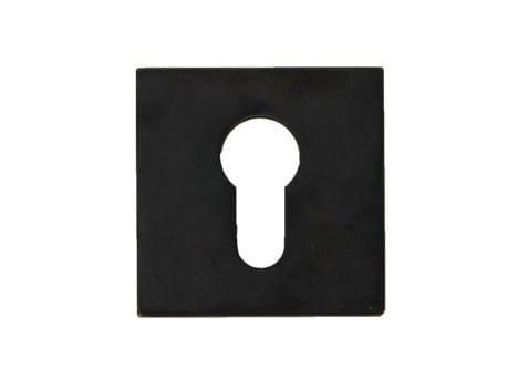 Square iron keyhole escutcheon 10264 | Keyhole escutcheon by Dauby