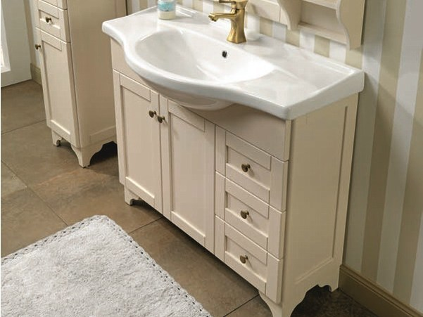 Vanity unit with cabinets with mirror NATURA 20 - Mobiltesino