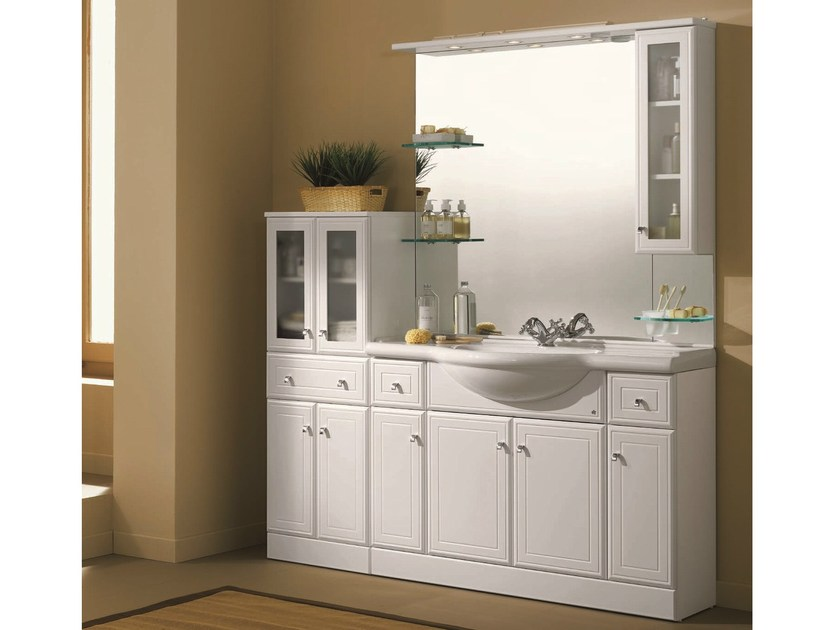Vanity unit with doors with drawers MARA 04 - Mobiltesino