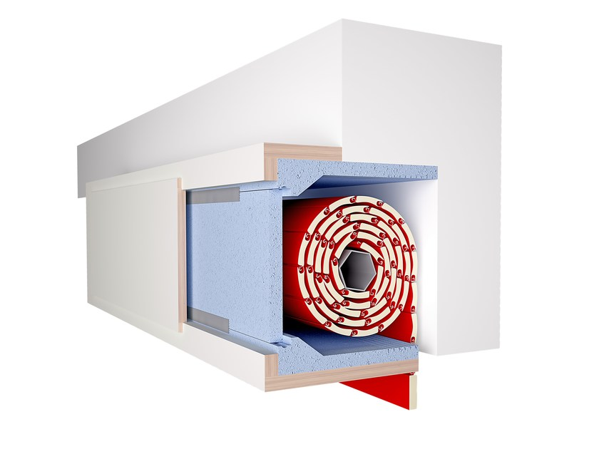 Box for roller shutter ISOLATUTTO by De Faveri
